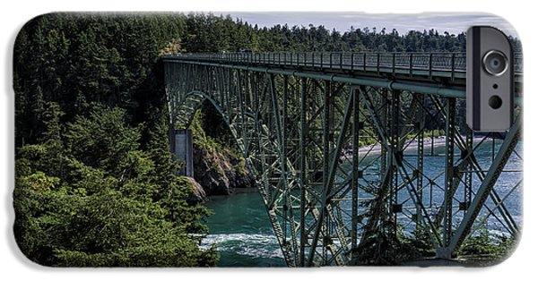 Bay Bridge iPhone Cases - Deception Pass iPhone Case by Joan Carroll