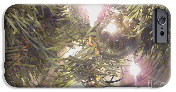 Digitally Signed Mixed Media iPhone Cases - Deck The Halls 2011 iPhone Case by Feile Case