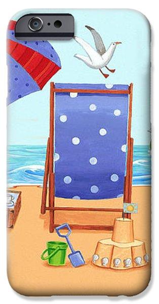 Deckchairs iPhone Case by Peter Adderley