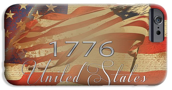 4th July iPhone Cases - Declaration of Independence  iPhone Case by Beverly Guilliams