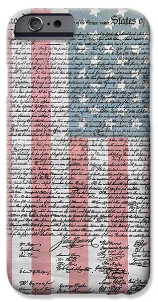 4th July Mixed Media iPhone Cases - Declaration Of Independence iPhone Case by Dan Sproul