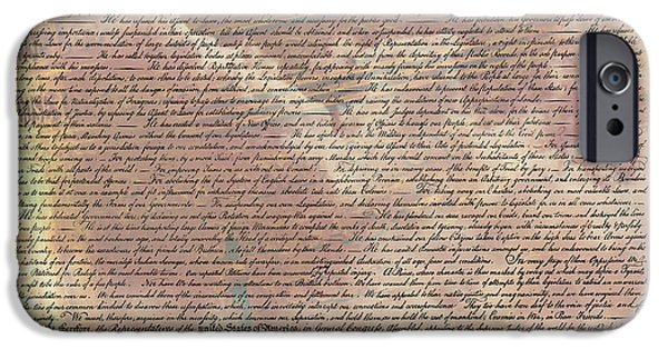 4th July Photographs iPhone Cases - Declaration of Independence iPhone Case by Stephen Stookey
