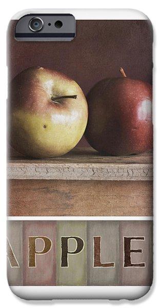 Apple Photographs iPhone Cases - Deco Apples iPhone Case by Priska Wettstein
