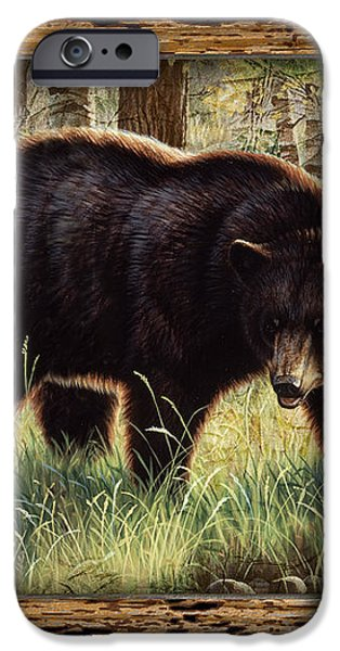 Deco Black Bear iPhone Case by JQ Licensing