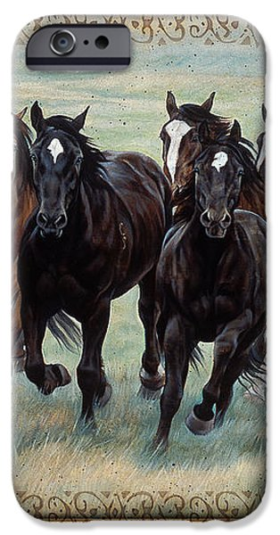 Deco Horses iPhone Case by JQ Licensing