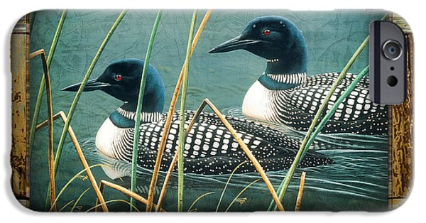 Loon iPhone Cases - Deco Loons iPhone Case by JQ Licensing