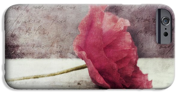 Close Up Floral iPhone Cases - Decor Poppy Horizontal iPhone Case by Priska Wettstein