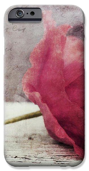decor poppy horizontal iPhone Case by Priska Wettstein
