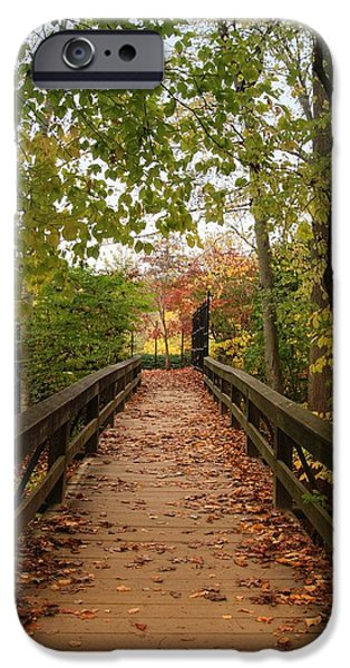 Decorate With Leaves - Holmdel Park iPhone Case by Angie Tirado