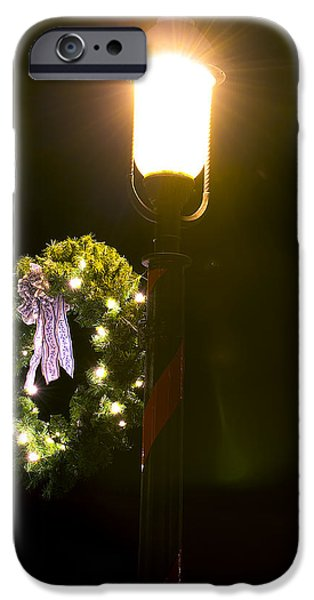 Christmas Holiday Scenery iPhone Cases - Decorating for Christmas iPhone Case by Kenneth Albin