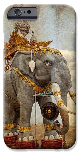 Thailand iPhone Cases - Decorative Elephant iPhone Case by Adrian Evans