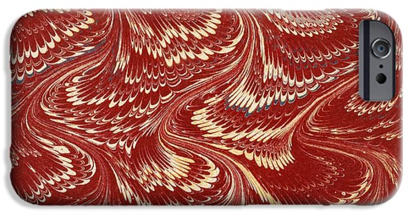Pattern Books iPhone Cases - Decorative Endpaper From A Nineteenth iPhone Case by Ken Welsh