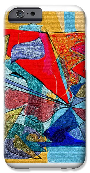 Blue Abstracts Reliefs iPhone Cases - Decorative interior Art Abstract iPhone Case by Olga Sheyn