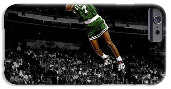 American Professional Basketball Player iPhone Cases - Dee Brown iPhone Case by Brian Reaves