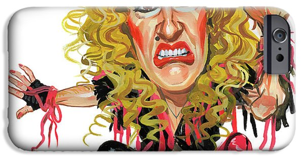Heavy Metal Paintings iPhone Cases - Dee Snider iPhone Case by Art