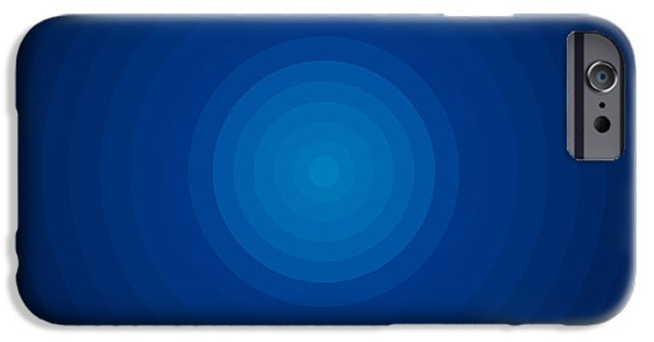 Disc iPhone Cases - Deep Blue Circles iPhone Case by Frank Tschakert