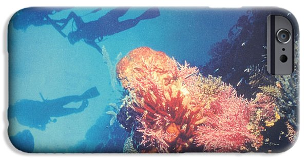 Free-diver iPhone Cases - Deep blue iPhone Case by Taylan Soyturk