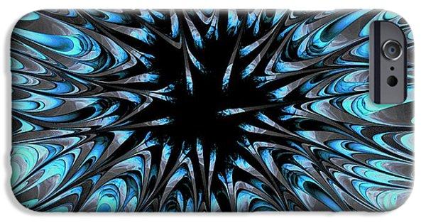 Silver iPhone Cases - Deep Down iPhone Case by Anastasiya Malakhova