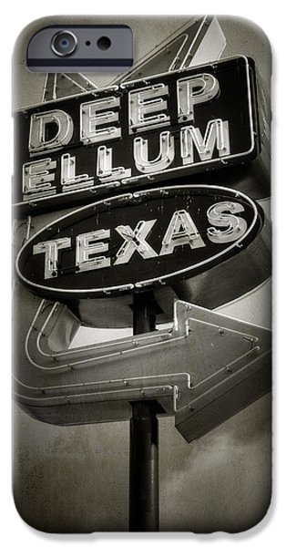 Sign iPhone Cases - Deep Ellum iPhone Case by Joan Carroll