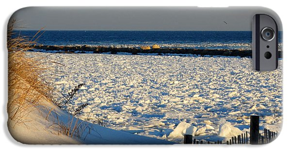 Harbor Sesuit Harbor iPhone Cases - Deep Freeze at Sesuit Harbor iPhone Case by Dianne Cowen
