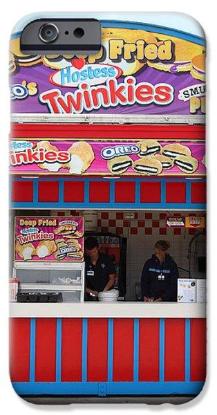 Deep Fried Hostess Twinkies At The Santa Cruz Beach Boardwalk California 5D23689 iPhone Case by Wingsdomain Art and Photography