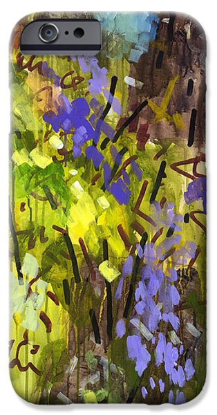 Abstract Expressionism iPhone Cases - Deep in Summer iPhone Case by Douglas Simonson