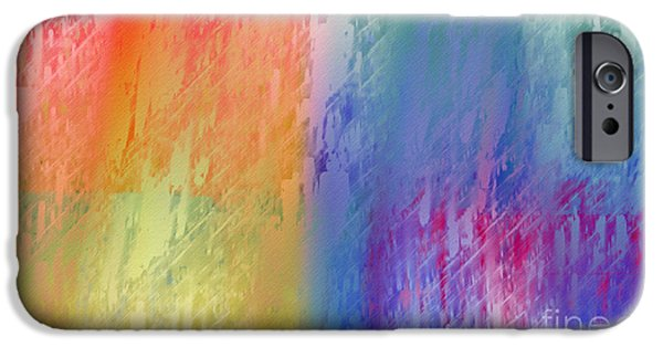 Abstract Digital Digital Art iPhone Cases - Deep Rich Sherbet Abstract iPhone Case by Andee Design