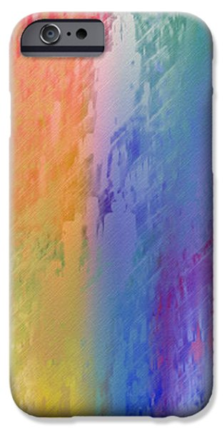 Deep Rich Sherbet Abstract iPhone Case by Andee Design