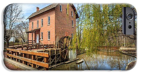 Hobart iPhone Cases - Deep River County Park Grist Mill iPhone Case by Paul Velgos
