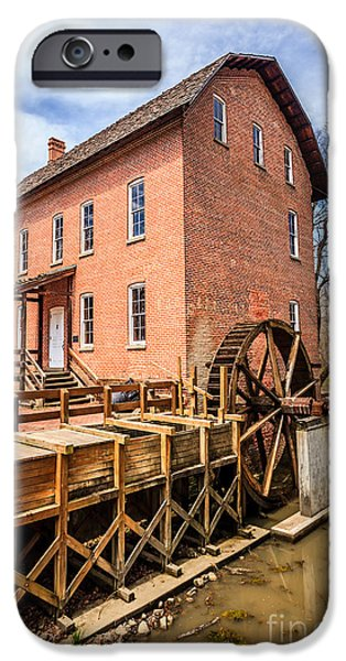 Grist Mill iPhone Cases - Deep River Grist Mill in Northwest Indiana iPhone Case by Paul Velgos