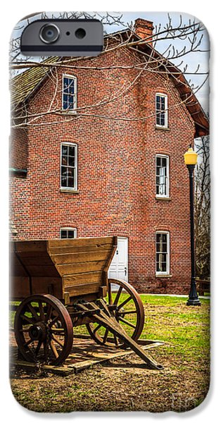 Deep River Wood's Grist Mill and Wagon iPhone Case by Paul Velgos