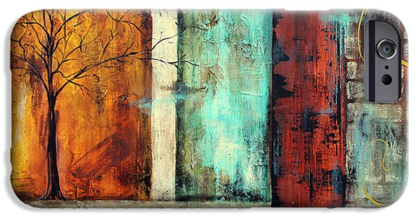 Tree Roots Paintings iPhone Cases - Deep Roots-A iPhone Case by Jean Plout