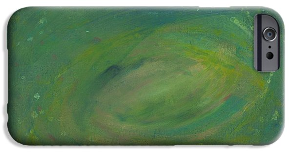 Deep Space Art Paintings iPhone Cases - Deep Space iPhone Case by Cody Cookston