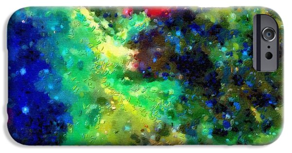 Outer Space Paintings iPhone Cases - Deep space view iPhone Case by Magomed Magomedagaev