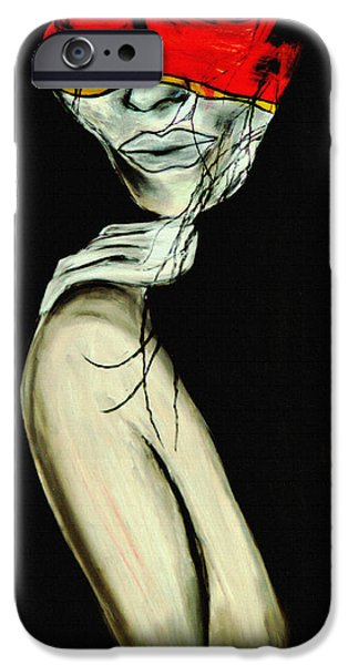 Artistic Portraiture iPhone Cases - Deepest Element 1 iPhone Case by Angela Pari  Dominic Chumroo