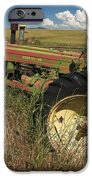Contour Plowing iPhone Cases - Deere John iPhone Case by Latah Trail Foundation