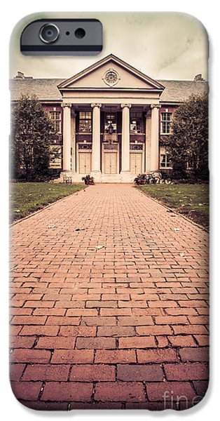 Brick Schools iPhone Cases - Deerfield Academy iPhone Case by Edward Fielding
