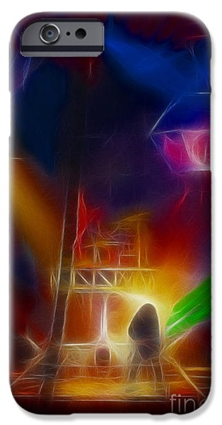 Def Leppard iPhone Cases - Def Leppard-Adrenalize-GF10-Fractal iPhone Case by Gary Gingrich Galleries