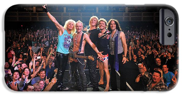 Bands On Stage iPhone Cases - Def Leppard - Viva! Hysteria at the Hard Rock 2013 iPhone Case by Epic Rights