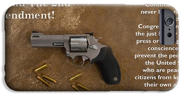 Constitution iPhone Cases - Defedn The Second Amendment iPhone Case by Barbara Snyder