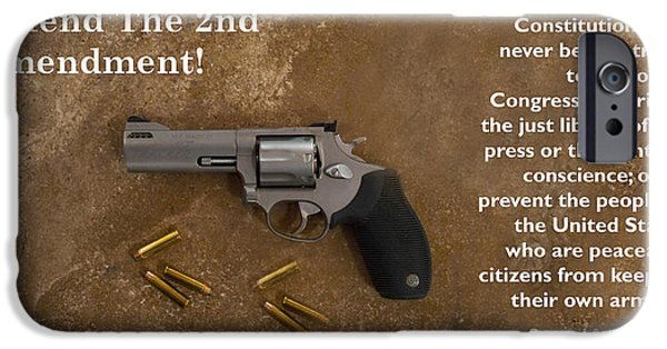 Constitution iPhone Cases - Defend The Second Amendment iPhone Case by Barbara Snyder