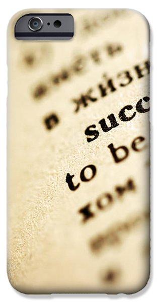 Definition of success iPhone Case by Konstantin Sutyagin