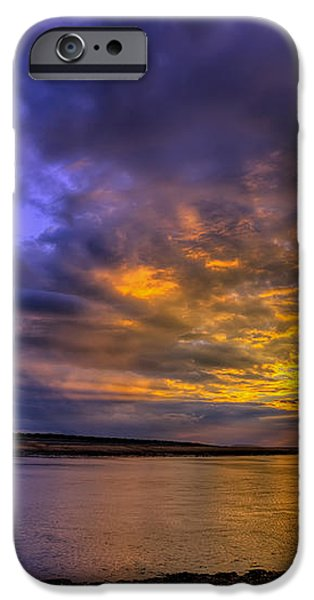 Deganwy Sunset iPhone Case by Adrian Evans