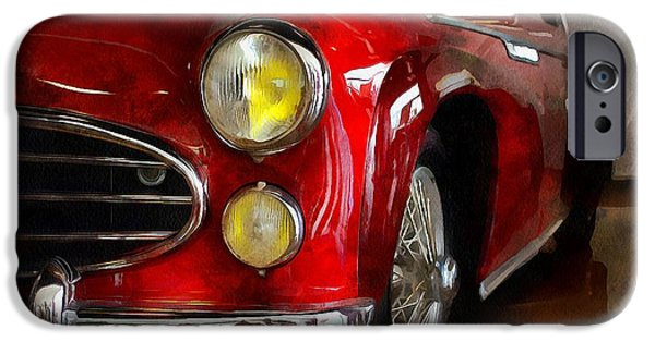 Model iPhone Cases - DELAHAYE 235 - Automobile   iPhone Case by L Wright