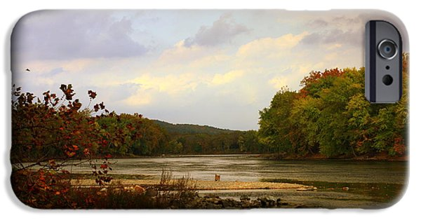 Ledge iPhone Cases - Delaware River iPhone Case by Marcia Lee Jones