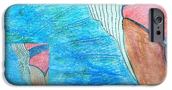 Mixed Media Pastels iPhone Cases - Delay iPhone Case by Igor Kotnik
