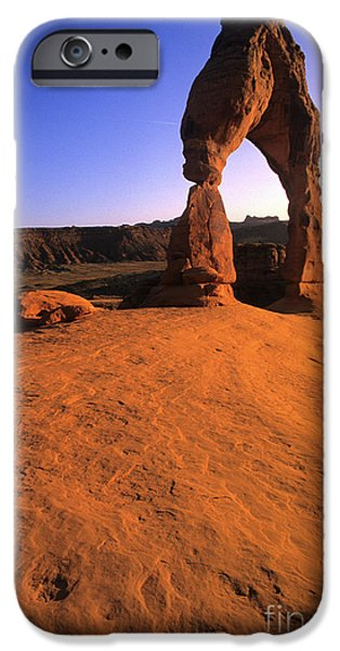 Red Rock iPhone Cases - Delicate Arch iPhone Case by Bob Christopher