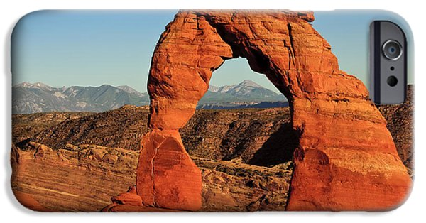 Slickrock iPhone Cases - Delicate Arch iPhone Case by Karma Boyer