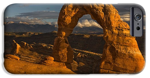Moab iPhone Cases - Delicate Arch iPhone Case by Mark Kiver