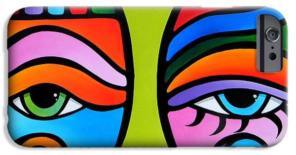 Modern Abstract Drawings iPhone Cases - Delicate Balance iPhone Case by Tom Fedro - Fidostudio